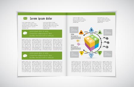 layout: Magazine layout, vector