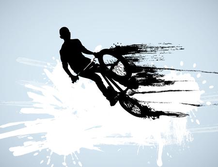mtb: Vector of BMX cyclist