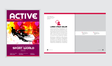 layout: Magazine layout. Editable vector