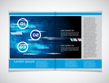 magazine layout: Magazine layout. Editable vector