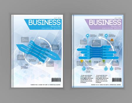 invitation barcode: Vector business brochure