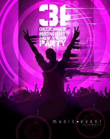 crowd happy people: Party background  vector