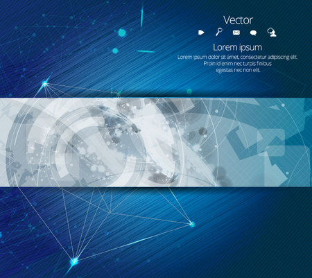 technology background: Vector design banner technology background