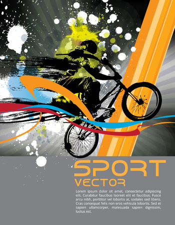 summer tires: BMX biker. Vector