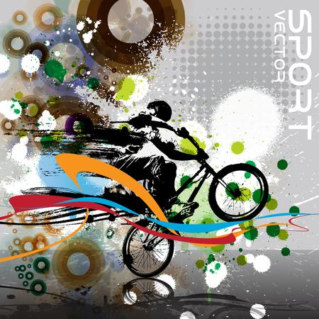 extremal: BMX biker. Vector