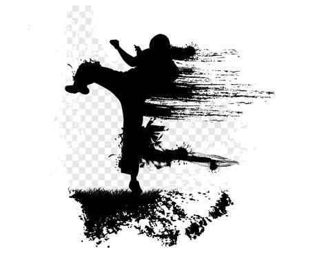 Karate illustration Stock Photo