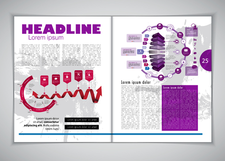 magazine layout: Magazine layout, vector