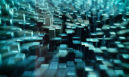 tiefe: 3D-futuristischen Hintergrund