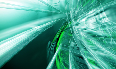 fluorescence: 3D rendering, abstract background design