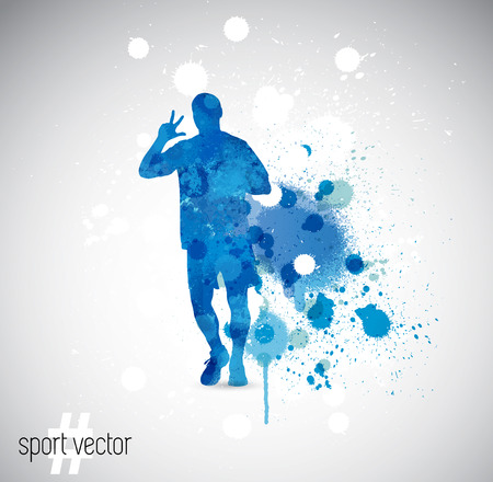 splashy: illustration of splashy runner silhouette Illustration