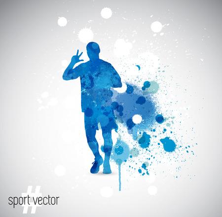 splashy: illustration of splashy runner silhouette Illustration