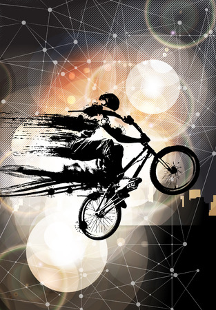 sports race: Extreme sports, BMX rider