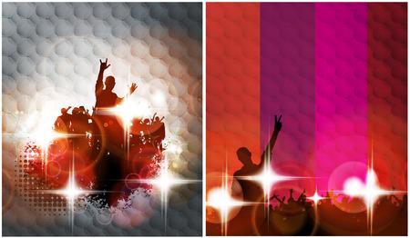 concert crowd: Festival illustration Stock Photo