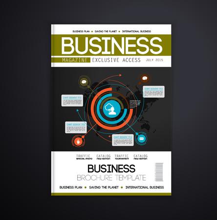 magazine design: Magazine cover design, vector