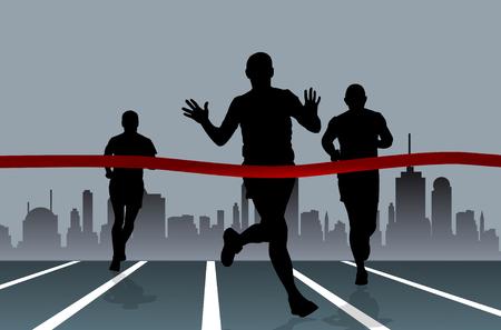 distance: Sport vector illustration Illustration