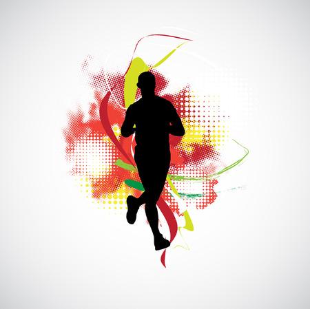 jogger: Jogger, sport illustration Stock Photo