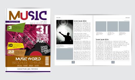 magazine design: Magazine layout design, vector Illustration