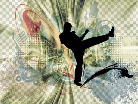 kyokushin: Martial art background Stock Photo