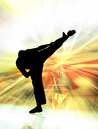 sidekick: Martial art background Stock Photo