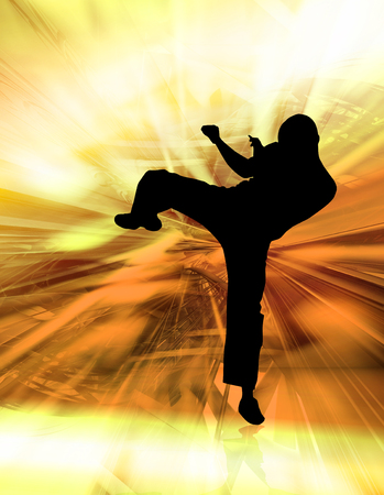 kyokushinkai: Martial art background Stock Photo