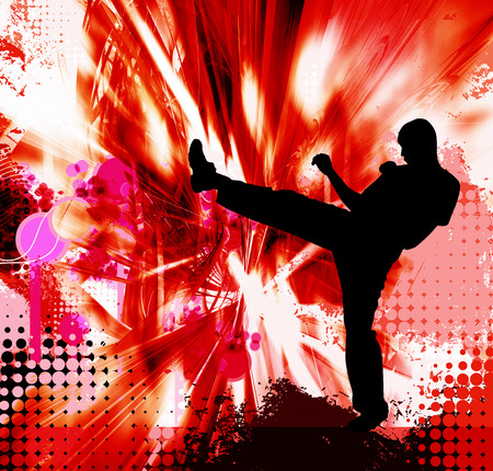 Martial art background Stock Photo
