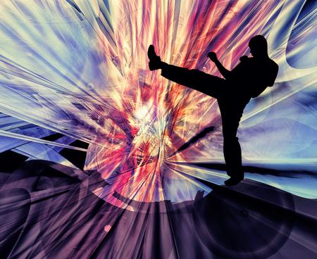Martial art background Stock Photo