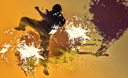sidekick: Martial art background Stock Photo