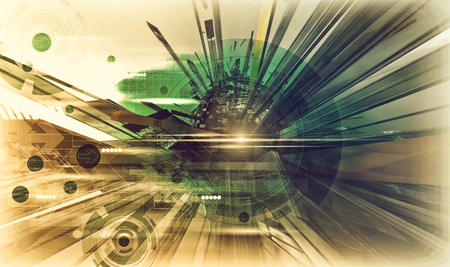 Technology Background. 3d rendering Stock Photo