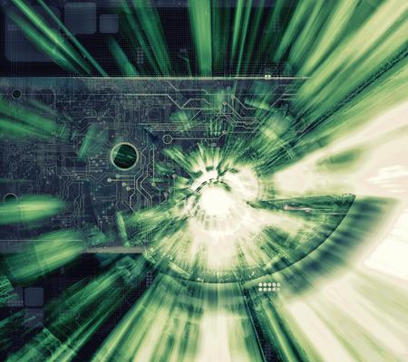3D rendering, futuristic background Stock Photo