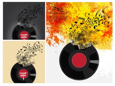disk jockey: vinyl record