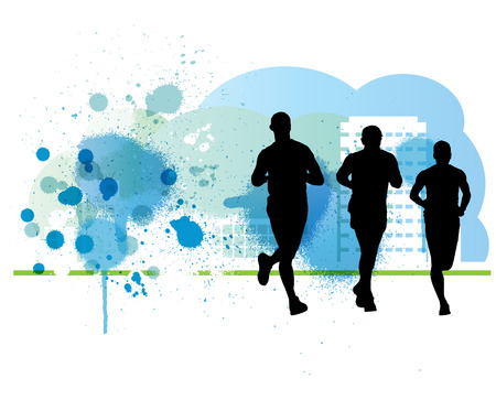 A runner illustration. Sport background Stock Photo