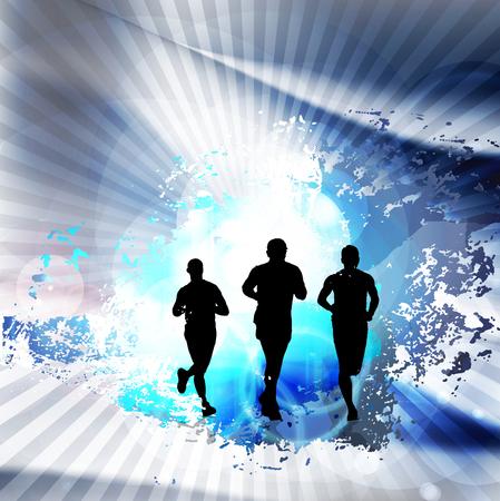yogi: A runner illustration. Sport background Stock Photo