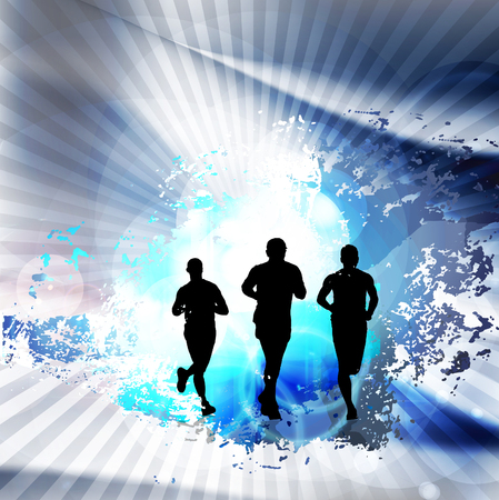 A runner illustration. Sport background Stock Photo