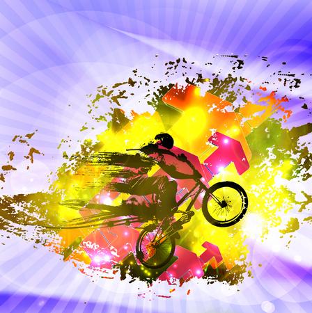 extremal: Sport illustration. Colorful background.