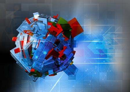 futurist: 3D rendering, futuristic background Stock Photo