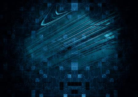 awakening: Technology Background. 3d rendering Stock Photo