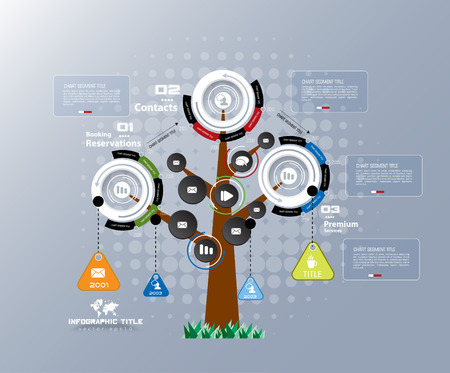 Abstract tree infographics