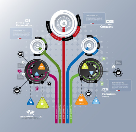 cognition: Abstract tree infographics