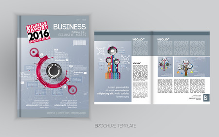 layout: Layout brochure, vector