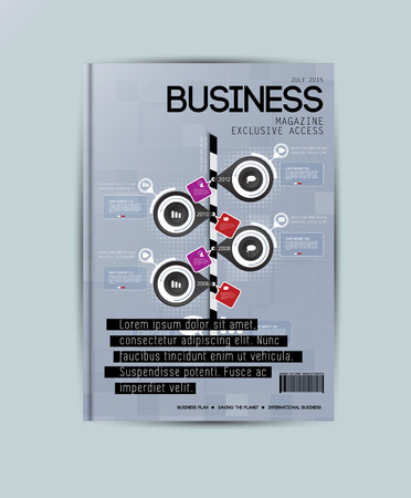 magazine template: Brochure or magazine cover template
