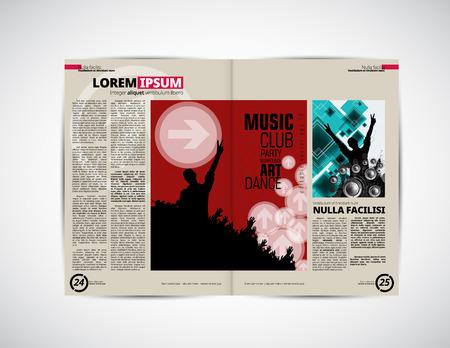 applauding: Design template newspaper Illustration