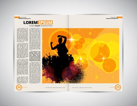 open magazine: Open magazine layout ready to use, vector