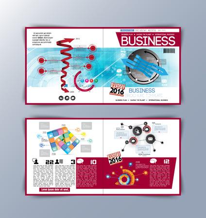 magazine template: Modern magazine layout template, vector