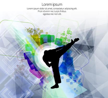 medical fight: Karate illustration Illustration