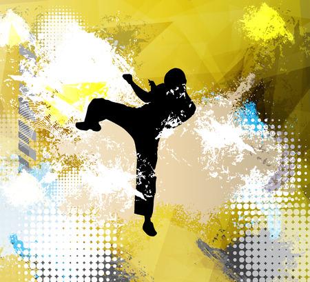 karate activity Illustration