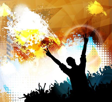 flayer: Concert, dancing people, vector