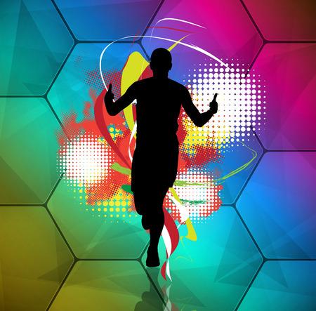 Marathon runner, vector Illustration