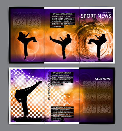 aikido: Sport brochure layout