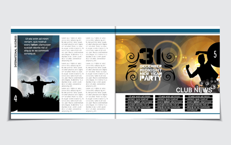 Music Brochure Layout Royalty Free Cliparts Vectors And Stock
