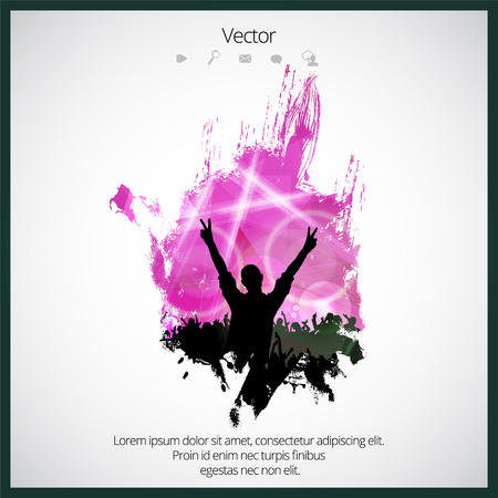 flayer: Silhouette of dancing people Illustration